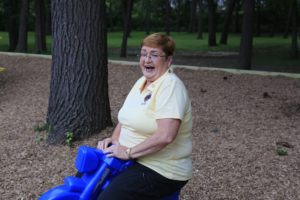 lady on play ground